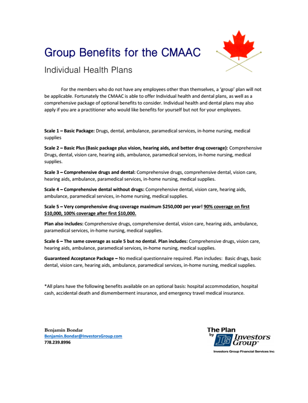 cmaac group benefits