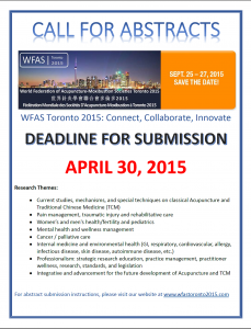 [WFAS Toronto 2015] CALL FOR ABSTRACTS -SUBMIT ONLINE