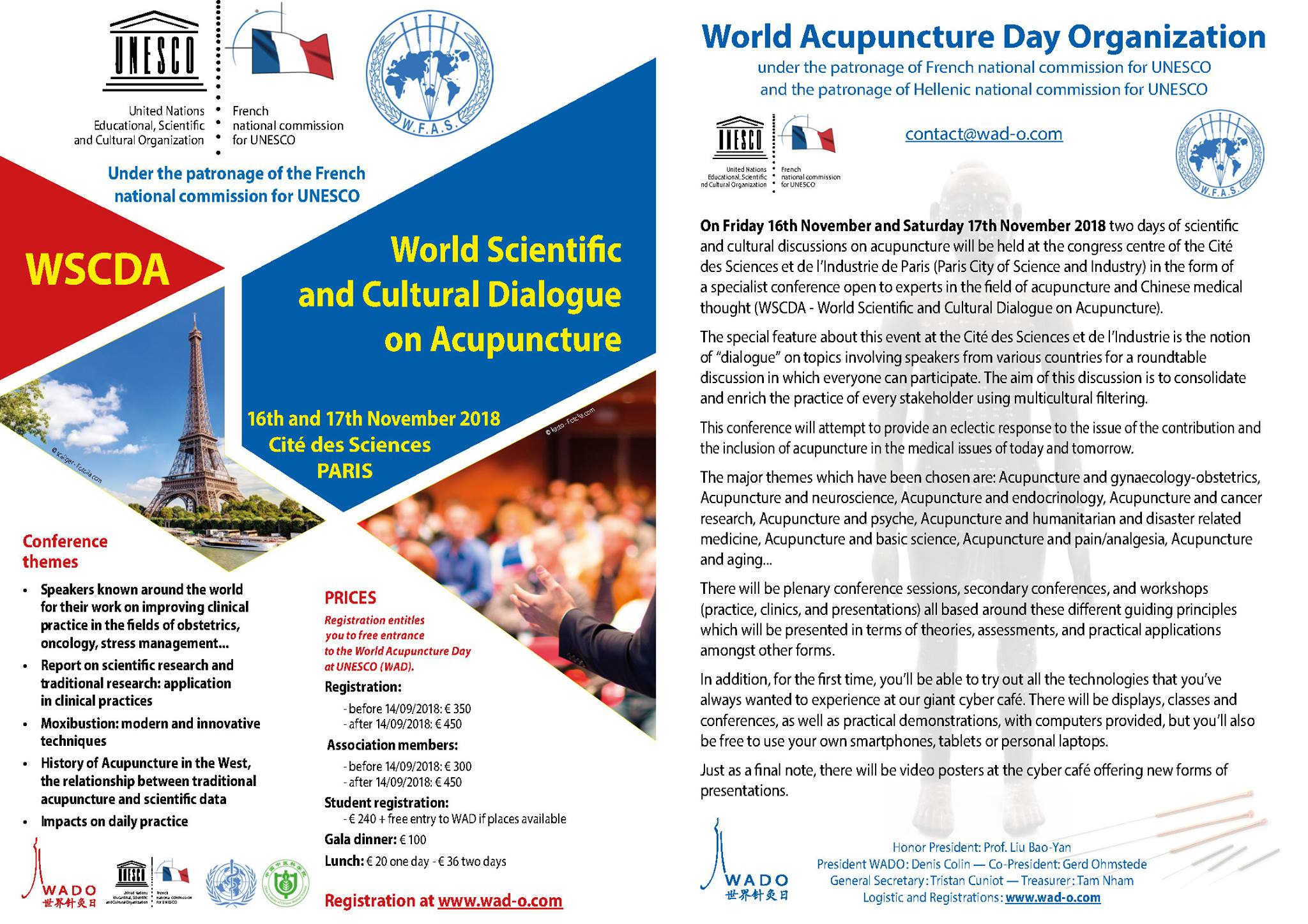 Save the Date: World Acupuncture Day (WAD) November 15, 2018